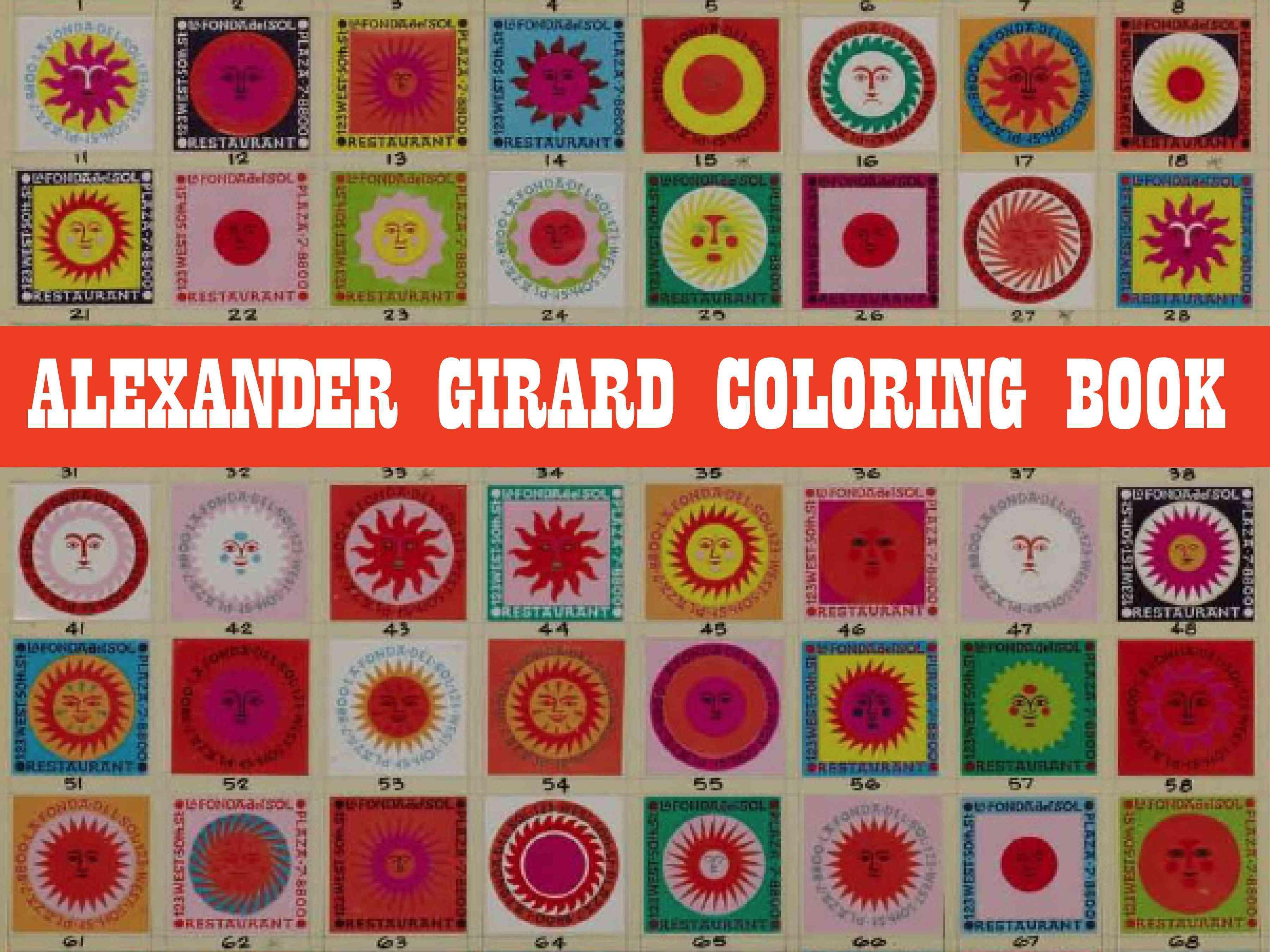 Alexander Girard Coloring Book (Paperback)