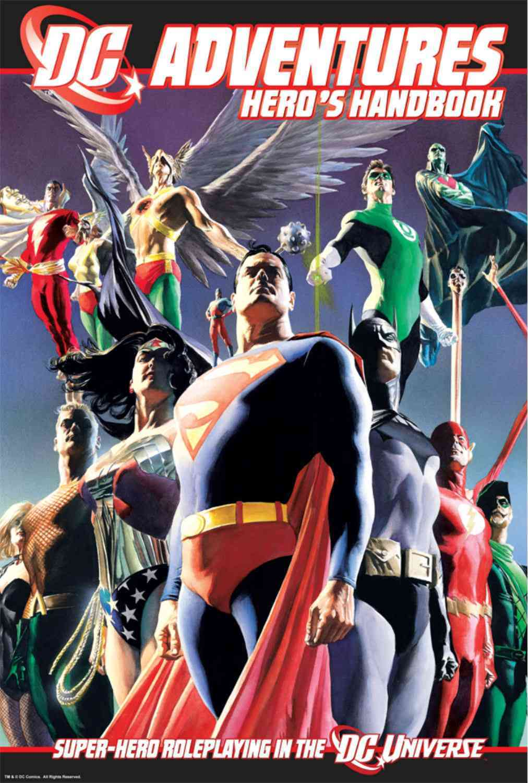 DC Adventures Hero's Handbook Book 1: Super-Hero Roleplaying in the DC Universe (Hardcover)