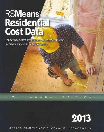 RS Means Residential Cost Data 2013 (Paperback) - Thumbnail 0
