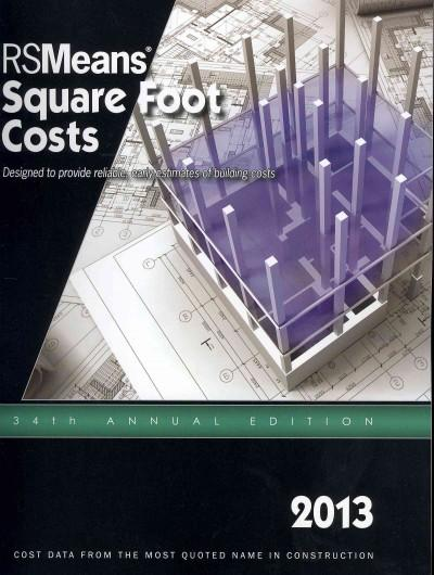 RS Means Square Foot Costs 2013 (Paperback)