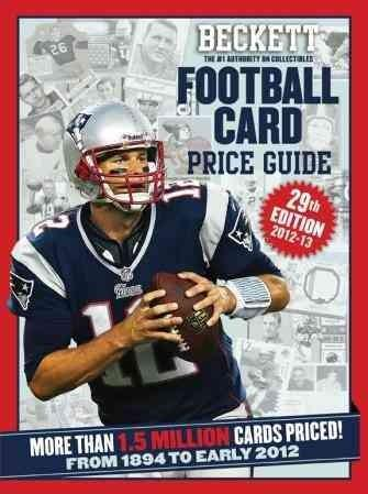 Beckett Football Card Price Guide 2012-13: From 1894 to Early 2012 (Paperback) - Thumbnail 0