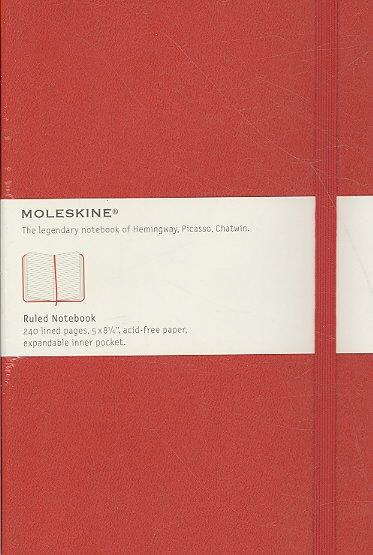 Moleskine Red Ruled Notebook Large (Notebook / blank book)