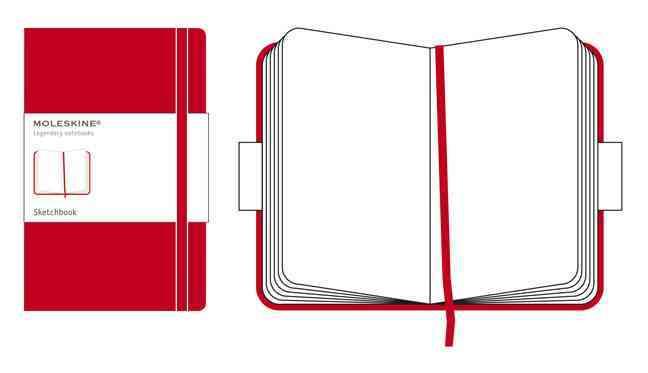 Moleskine Sketchbook Large, Red (Notebook / blank book)