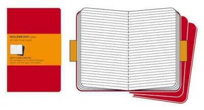 Moleskine Cahiers Ruled, Red Cover (Notebook / blank book)