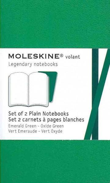 Moleskine Volant Emerald Green, Oxide Green Extra Small: Set of 2 Plain Notebooks: Vert Emeraude - Ve... (Notebook / blank book)