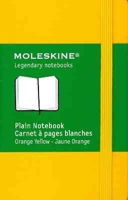 Moleskine Plain Notebook Orange Yellow (Notebook / blank book)