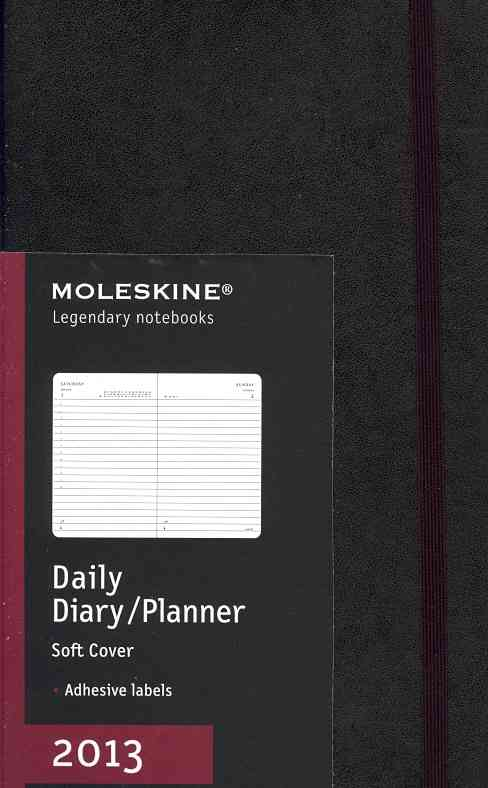Moleskine Large Softcover Black 2013 Daily Planner (Calendar)
