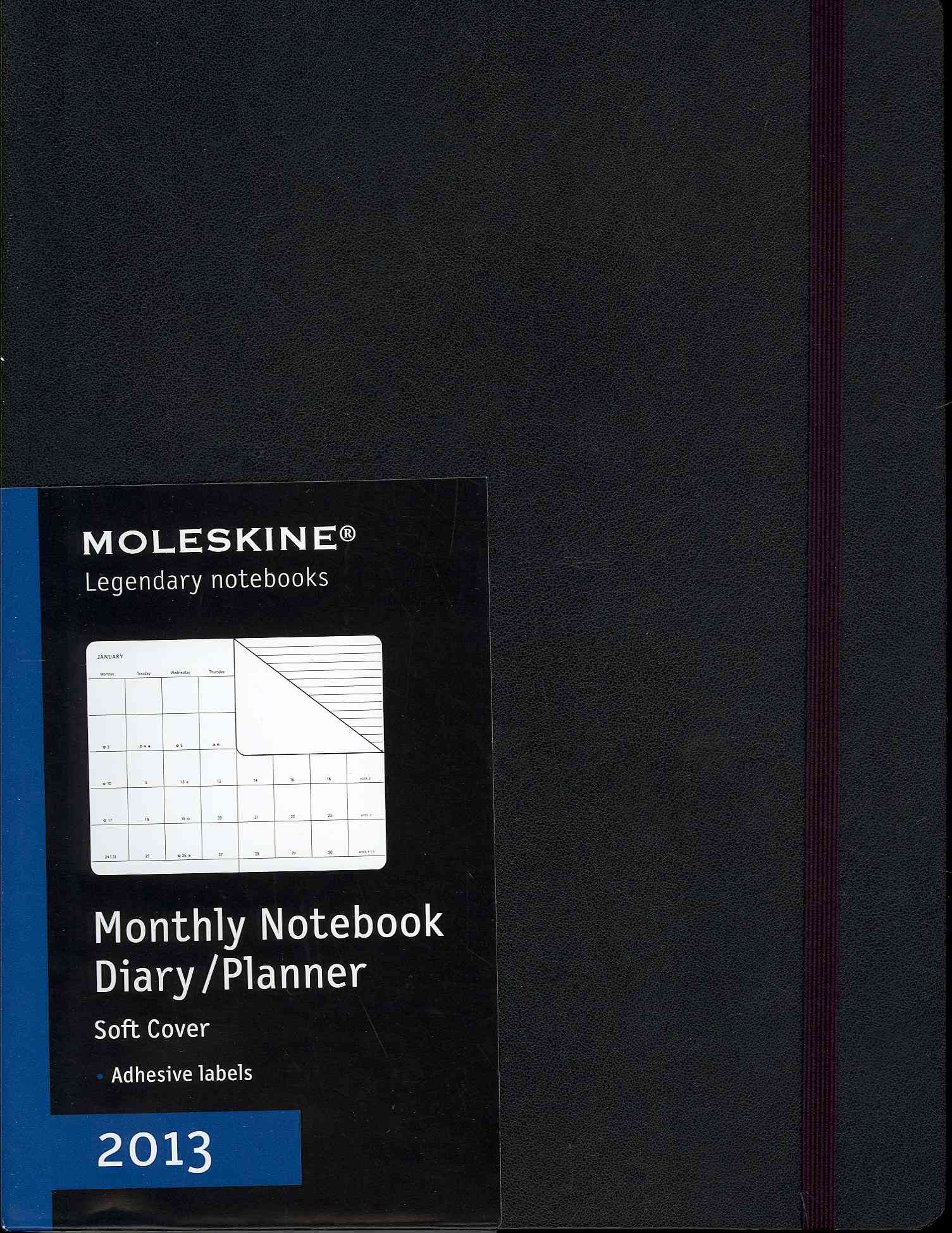 Moleskine Monthly Notebook Diary / Planner 2013