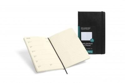 Moleskine 18 Months Extra Large Black 2012-2013 Weekly Notebook Diary/Planner (Calendar)