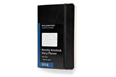 Moleskine Black 2014 Monthly Notebook Diary/Planner (Calendar)