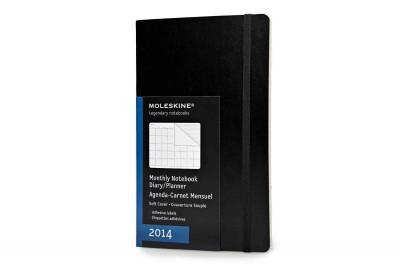 Moleskine 2014 Planner 12 Month Monthly Black Large: Adhesive Labels, Expandable Inner Pocket (Calendar)