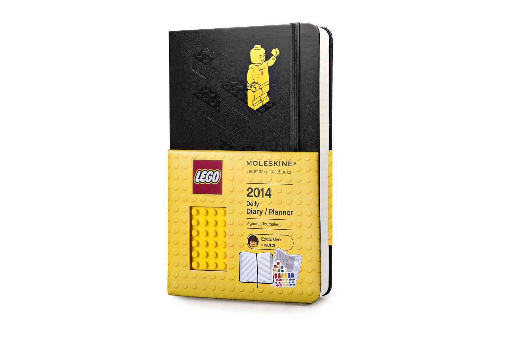 Moleskine 2014 Planner 12 Month Lego Daily Large Black (Calendar)
