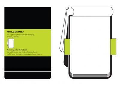 Moleskine Plain Reporter Notebook Large (Notebook / blank book)