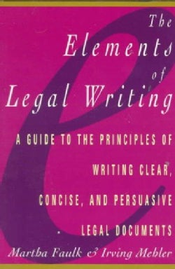 The Elements of Legal Writing (Paperback)