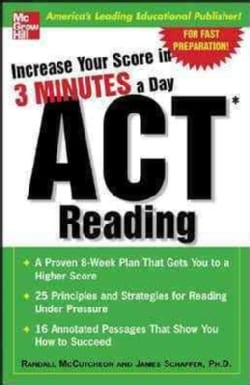 Act Reading: Increase Your Score in 3 Minutes a Day (Paperback)