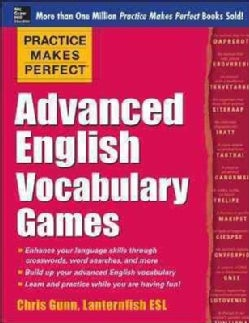 Practice Makes Perfect Advanced English Vocabulary Games (Paperback)