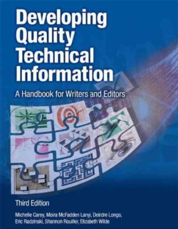Developing Quality Technical Information: A Handbook for Writers and Editors (Paperback)