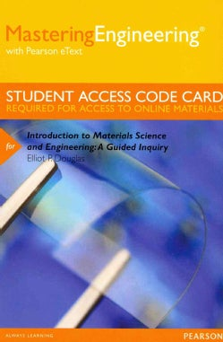 Introduction to Materials Science and Engineering Masteringengineering Access Code: A Guided Inquiry: Wit... (Other merchandise)