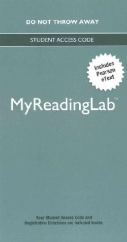 MyReadingLab With Pearson Etext Access Code (Other merchandise)