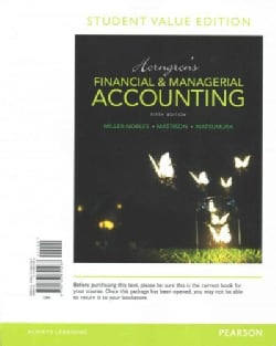 Horngren's Financial & Managerial Accounting + MyAccountingLab With Pearson Etext Access Code