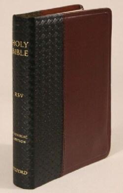 The Holy Bible: Revised Standard Version Catholic Edition Black/Burgundy, Bonded Leather Basketweave (Paperback)