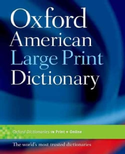 Oxford American Large Print Dictionary (Paperback)
