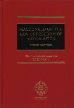 The Law of Freedom of Information (Hardcover)