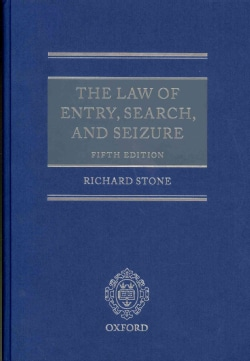 The Law of Entry, Search, and Seizure (Hardcover)