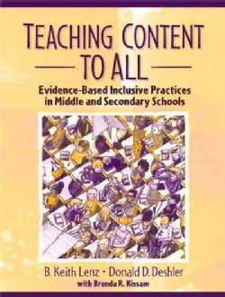 Teaching Content to All: Evidence-Based Inclusive Practices in Middle and Secondary Schools (Paperback)