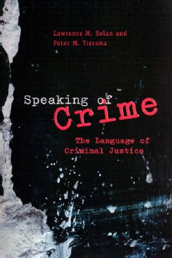 Speaking Of Crime (Paperback)