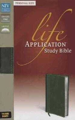 Life Application Study Bible: New International Version: Bark/ Dark Moss Italian Duo-Tone Personal Size (Paperback)