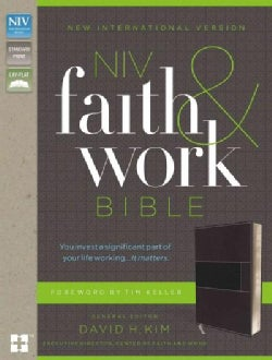 Holy Bible: New International Version, Gray, Imitation Leather, Faith and Work Bible (Paperback)