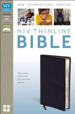 Holy Bible: New International Version Black Bonded Leather Thinline (Paperback)