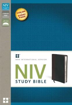 NIV Study Bible: New International Version, Chocolate / Black Italian Duo-Tone Study Bible (Paperback)