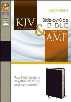 King James Version and Amplified Side-by-Side Bible: Black Bonded Leather (Paperback)
