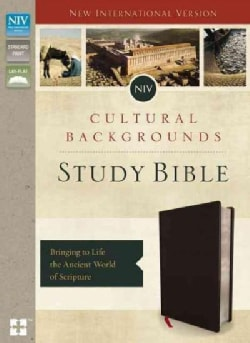 NIV Cultural Backgrounds Study Bible: New International Version, Black, Bonded Leather: Bringing to Life the Anci... (Paperback)