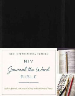 Holy Bible: Niv, Journal the Word Bible, Black: Reflect, Journal, or Create Art Next to Your Favorite Verses (Hardcover)