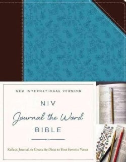 NIV Journal the Word Bible: New International Version, Chocolate/Turquoise, Italian Duo-Tone: Reflect, Journal, o... (Paperback)