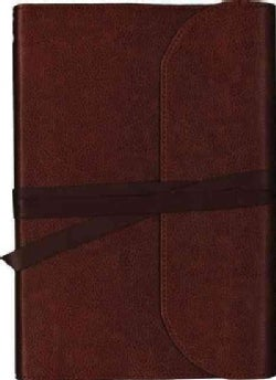 Holy Bible: Niv, Journal the Word Bible, Genuine Leather, Brown: Reflect, Journal, or Create Art Next to Your Fav... (Paperback)