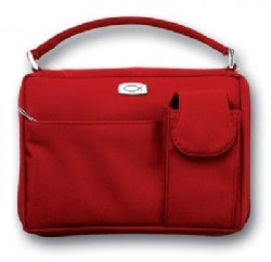 Microfiber Red With Exterior Pockets Large Book & Bible Cover (General merchandise)
