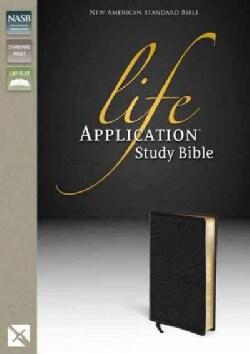 Life Application Study Bible New American Standard Bible: Black Top Grain Leather (Paperback)