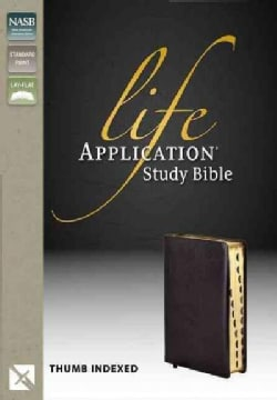 Life Application Study Bible: New American Standard Bible, Black Bonded Leather, Thumb Indexed (Hardcover)