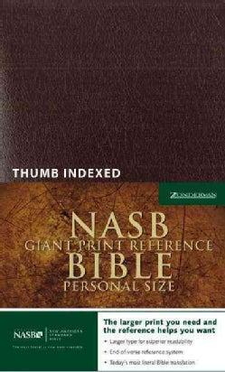 Holy Bible: New American Standard Version, Burgundy, Premium Leather-look, Reference, Personal Size (Hardcover)