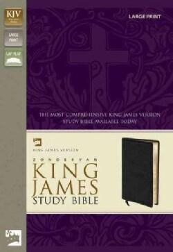King James Version Study Bible Black Bonded Leather (Paperback)
