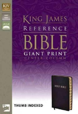 Reference Bible: King James, Black Bonded Leather, Giant Print Center-column, Thumb Indexed (Hardcover)