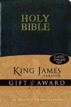 Holy Bible: King James Version Black Leather-Look Gift & Award Bible (Paperback)