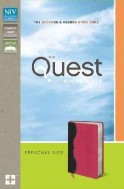 Quest Study Bible: The Question & Answer Bible: New International Version Charcoal / Pink Italian Duo-Tone Person... (Paperback)
