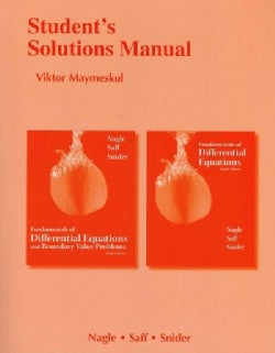 Fundamentals of Differential Equations, Eighth Edition / Fundamentals of Differential Equations and Boundary Valu... (Paperback)