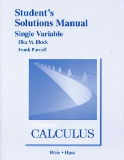 Thomas' Calculus Single Variable (Paperback)