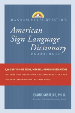 Random House Webster's American Sign Language Dictionary (Hardcover)